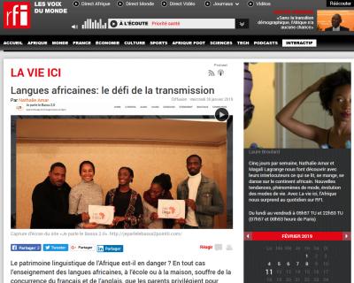 Capture d\'écran  sur https://www.rfi.fr/ le jour de publication