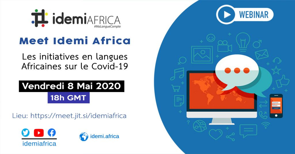 Webinaire: Covid-19 et les langues Africaines - #MeetIdemiAfrica 8 Mai 2020